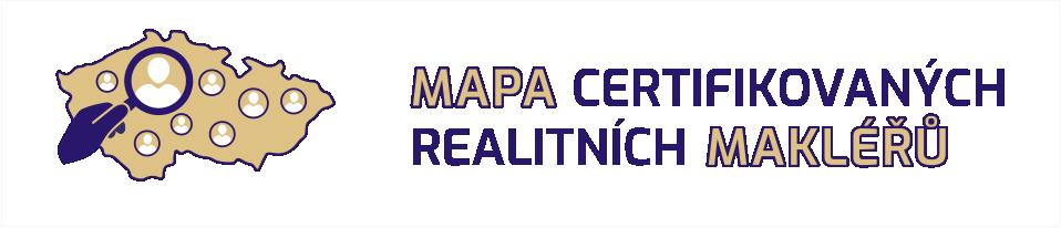 Mapa certifikovaných realitních makléřů